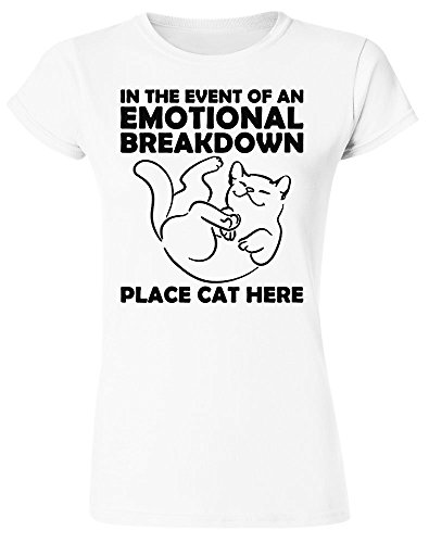 In The Event Of Emotional Breakdown Place Cat Here Women's T-Shirt Large