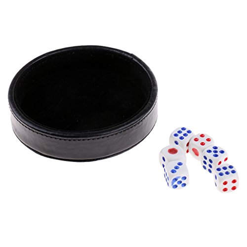 Baosity Black Dice Cup Tray Cover Table Games Party Bar KTV Club Dies Game Supplies