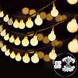 Lichterkette B-right 40 LEDs Globe Lichterkette, LED Lichterkette warmweiß, batteriebetrieben, Innen- und Außen Lichterkette Glühbirne, Weihnachtsbeleuchtung für Weihnachten Hochzeit Party Weihnachtsbaum