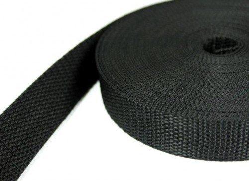 Preisvergleich Produktbild 10m PP Gurtband - 20mm breit - 1,2mm stark - schwarz (UV)