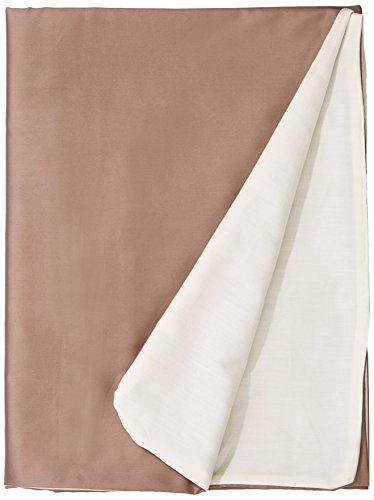 Dodo Housse de couette bicolore en satin de Coton Savannah/Vanille 200 x 140 cm