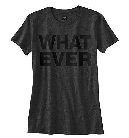Femmes WHATEVER T-Shirt - vintage chic haut rétro tumblr festival wildfox maillot - Medium