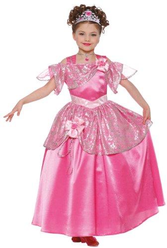 Imagen 2 de Framboise et Compagnie - Disfraz de princesa Flora con falda y diadema rosa para niña (de 5/7 años)