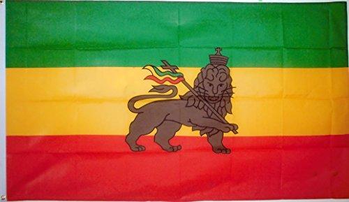 Äthiopien Löwe Flagge von SoCal Flaggen 3x 5Fuß Polyester Löwe von Juda Banner-Verkauft von A Proud American Company-Langlebig 100D Material Nicht Sehen durch Wie Andere Marken Wetter Beständig - Poly Flag Banner