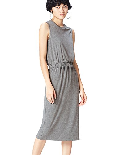 FIND Women's Dress, Grey (Grey Marl), 8 (Manufacturer Size: X-Small)