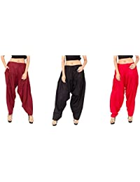 Rayon Patiala For Women Free Size Combo Pack Of 3 Patiyala Free Size - B077VSQRPB