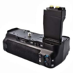 Meike Batteriegriff für Canon EOS 550D, 600D und 650D wie der BG-E8, als BG-E8 Ersatz in Originalqualität für 1-2 Stück LP-E8 oder 6 AA Akkus
