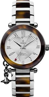 Vivienne Westwood Orb VV006SLBR - Reloj analógico para mujer de acero inoxidable, resistente al agua
