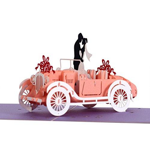 cutepopup 3D Popup Karten, Loving Couple, Charmings Details, Karten Halter und Weiß, Beeindruckend handgefertigt Geschenke Hochzeit, werden es für Ihre Lieben, Hochzeitstage, Valentinstag