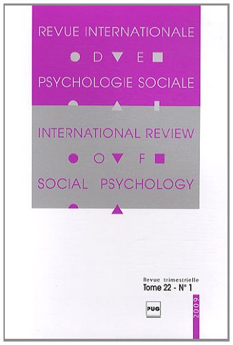 Revue Internationale de Psychologie Sociale, N° 22-1, 2009 :