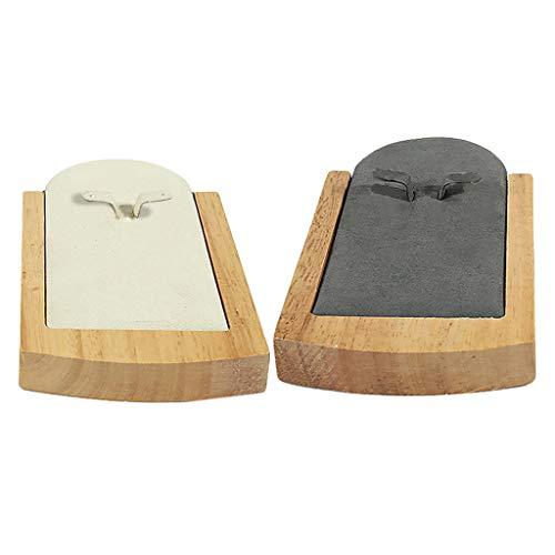 non-brand 2 STÜCKE Uhr Armband Halter Display Box Halskette Regal Zeigt Box Requisiten -
