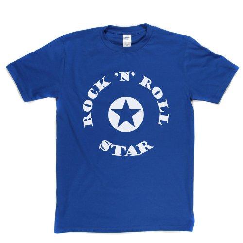 Rock n Roll Star Music Legend Funny Tee Quote T-shirt Königsblau