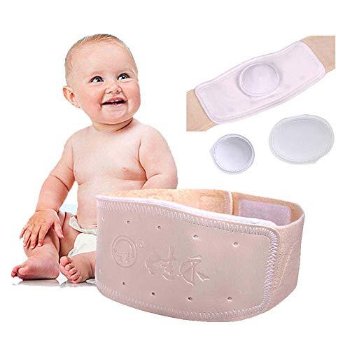 LJXiioo Justierbarer Baby-Hernien-Gurt, medizinische Baby-Nabel-Binder-Unterstützung, verwendbar für Kinder im Alter von 0-12 Monaten
