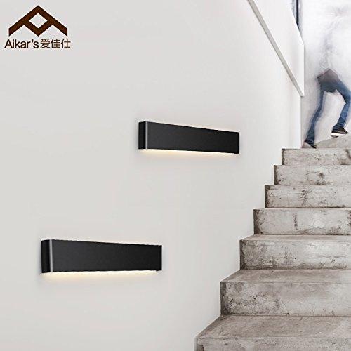 BBSLT Moderno minimalista Comodino con luce LED scale corridoio camera