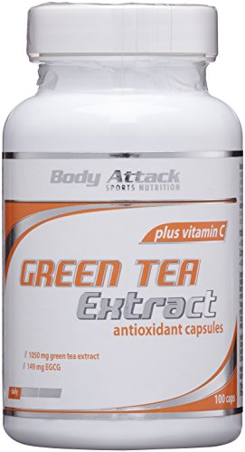 #Body Attack Green Tea, 90 Kapseln, 1er Pack (1x 42g), Dose#
