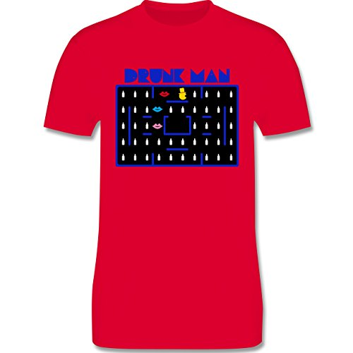 JGA Junggesellenabschied - Drunk-Man JGA - Herren Premium T-Shirt Rot