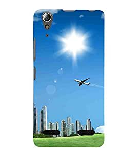 For Lenovo A6000 :: Lenovo A6000 Plus :: Lenovo A6000+ airplane Printed Cell Phone Cases, clouds Mobile Phone Cases ( Cell Phone Accessories ), sun Designer Art Pouch Pouches Covers, building Customized Cases & Covers, nature Smart Phone Covers , Phone Back Case Covers By Cover Dunia