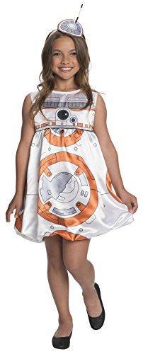 BB-8-Kostüm fürMädchen, Kleid, Star Wars, Disney, für Kinder ()