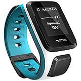 TomTom Runner 2 Cardio+Music Orologio GPS, Cardiofrequenzimetro Integrato, Lettore Musicale Integrato, Cinturino Piccolo, Bianco/Azzurro