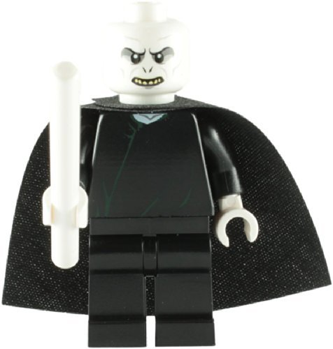 LEGO Harry Potter: Lord Voldemort Minifigura Con Color Blanco Varita Mágica