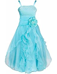 FEESHOW Elegante de Vestido Fiesta de Princesa para Niña Boda Disfraz Velada Noche Carnaval