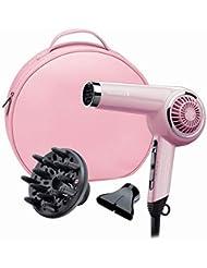 Remington D4110OP Haartrockner Retro Pink Lady, 2000 Watt, Keramikgitter für eine gleichmäßige Wärmeverteilung, Stylingdüse, Diffusor, rosa