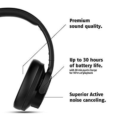 Mixcder E9 Casque Bluetooth à Réduction de Bruit Active Circum Écouteurs ANC sans Fil Stéréo avec Basses Profondes (Dual Pilotes de 40mm, Bluetooth CSR, Earpads Confortables, 30h de Jeu) par mixcder