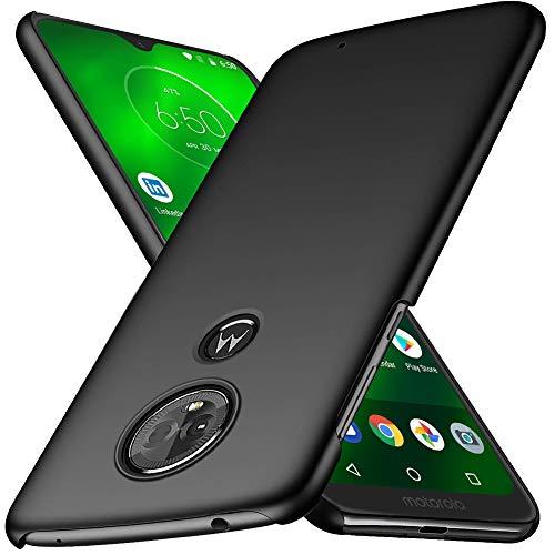 TOPACE Hülle für Moto G7/Moto G7 Plus Ultradünne Leichte Matte Handyhülle für Motorola G7/G7 Plus Einfache Stoßfeste Kratzfeste Ganzkörper Schutzhülle kompatibel mit Moto G7/Moto G7 Plus (Schwarz)