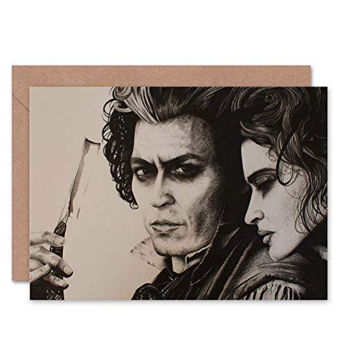 Wee Blue Coo LTD Greetings Sweeny Todd Johnny Depp Art by Wayne Maguire Sealed Greeting Card Plus Envelope Blank Inside