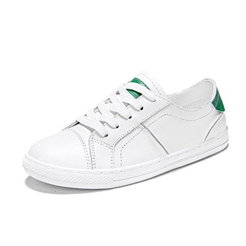 Bianco Verde Scarpe Basse colore Primavera Per 36 Bianche Piastra Sport Donne Giallo Scarpe Casuali Universitario Taglia Delle Asc xqTawYgn