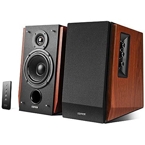 Edifier R1700BT - Equipo de altavoces (Bluetooth, 2 x RCA, mando a distancia), marrón