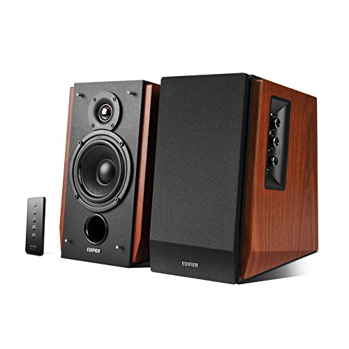 41PnpWx2H2L. SS500  - Edifier R1700BT Bookshelf Active Speakers with Bluetooth, RCA/AUX Input, EQ Control and Remote Control - Brown