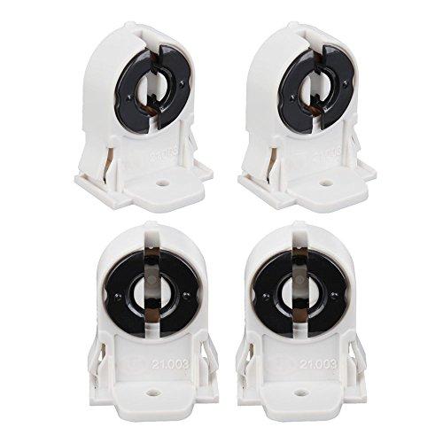 4Stück AC 250V T8Sockel G13LED Aquarium Lampe Halter Sockel Adapter Snap oder zum Aufschieben passenden weiß (Fish Snap)
