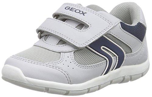 Geox B Shaax B, Chaussures Bébé marche bébé garçon Gris (LT GREY/NAVYC1297)