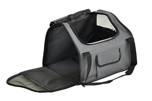 nanook Auto Transporttasche für Tiere / Transportbox – 43 cm – anthrazit – für Hunde, Katzen und Nager – mit Gurtbefestigung - 5