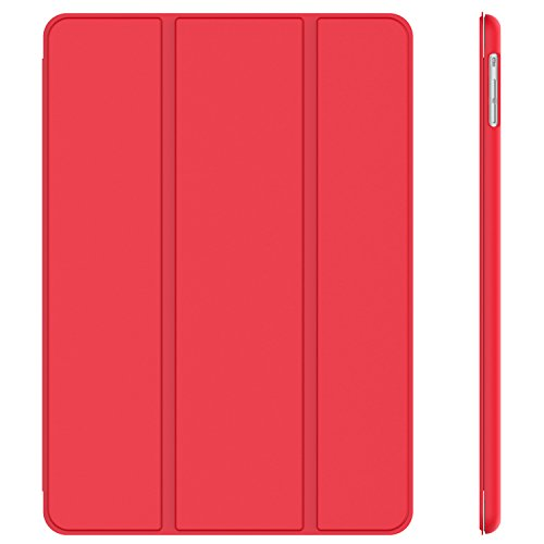 JETech 0466- Coque pour iPad Air 2013, Étui avec Support Fonction et Veille/Réveil Automatique, Rouge