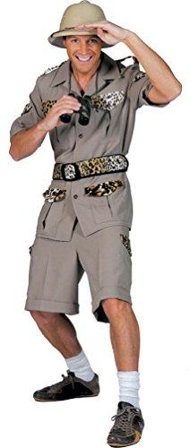 Karneval-Klamotten Safari Kostüm Herren Dschungel Karneval Fasching Herrenkostüm -