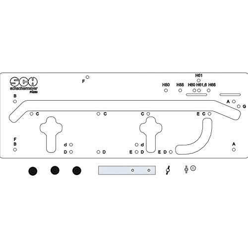 IGM Frässchablone FK650-SCH für Arbeitsplattenverbinder, Kunststoff