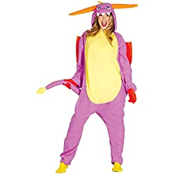 Guirca- Disfraz adulta pijama dragón, Talla 42-44 (84613.0)