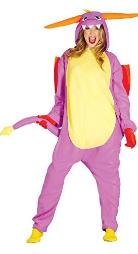 Drachen Kostüm für Erwachsene Damen Herren Overall Damenkostüm Dragon Anime Tier Cartoon Gr. M, Größe:L