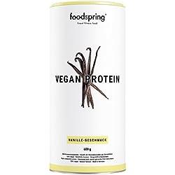 foodspring Protéine Végétale, Vanille, 600g, 100% protéine végétale, Fabriqué en Allemagne