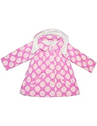 Girls Baby Hooded Coat Jacket Fleece Lining Outer Wear Pink 12-18 18-24 Months