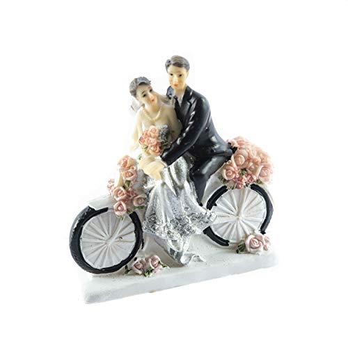 knuellermarkt.de Tortenfigur Hochzeits-Figur Silberne Hochzeit Silberhochzeit Deko Fahrrad 25 - Hochzeit Fahrrad