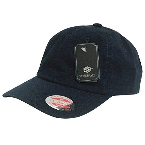 Soul Supply Unisex Unstrukturierte Baumwolle, Uni, Blanko Dad Mütze Baseball Cap Polo 601, Unisex-Erwachsene, Navy, One Size