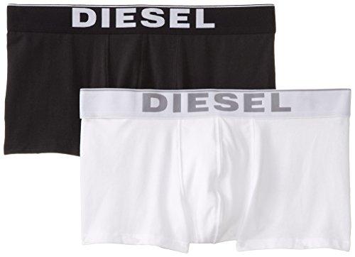 Diesel Herren KORY2PK Boxershorts Weiß (Blanco / Negro)