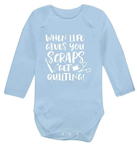 Flox Creative Baby Weste mit Langen Ärmeln für Abstreifen, Quilten Gr. 3-6 Monate, hellblau -
