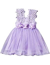 03bbeb07f1cab Giulogre Bébé Fille Robe Princesse Dentelle Robe Tutu Robe Mignon Jupe  Tulle Jupe Courte pour Enfants
