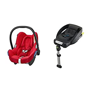 Maxi-Cosi CabrioFix Baby Rear Facing Car Seat, 0-13 kg, Vivid Red with Easyfix Car Seat Base, Isofix and Belt   15