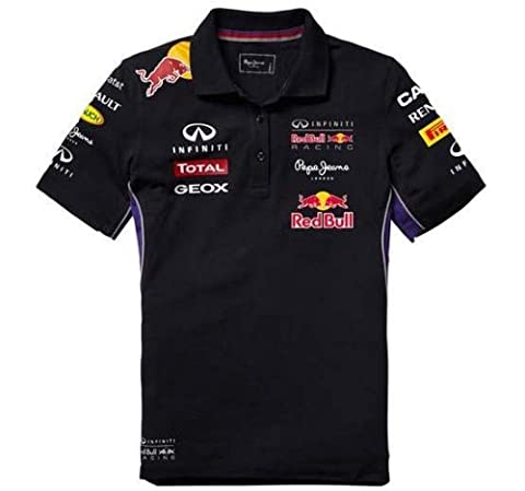 Red Bull Racing Teamline Polo pour Femme, Bleu/Rouge, XS
