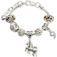 Girl's Unicorn Birthday Charm Bracelet with Gift Box - Ages 1- 11 Available